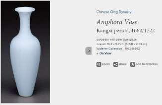 Pale Blue Kangxi Amphora vase