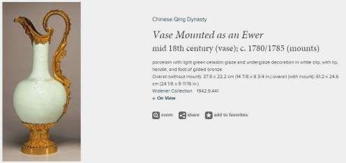 Qianlong Celadon Ewer Vase