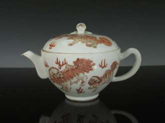 19th C. Chinese Foo Lion teapot