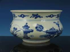 kangxi Period Blue and White Incense Burner