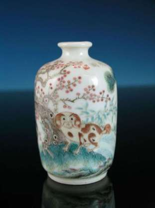 18th C. Chinese Doucai Bottle