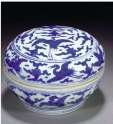 Cobalt Blue Chinese Jiajing Box