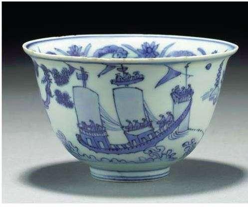 Jiajing Period Deep Bowl of ships