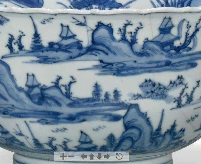 Jiajing Blue and White Porcelain Barbed Rim bowl