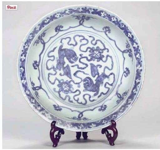 Jiajing Foo Lion Plate