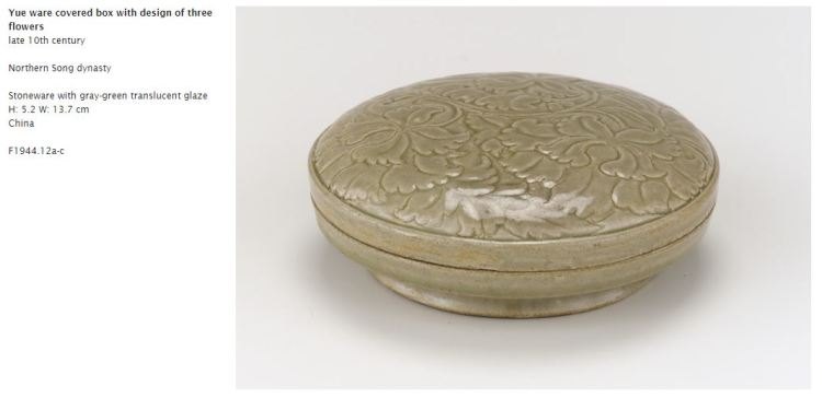 Northern Song Yue Ware Floral Box