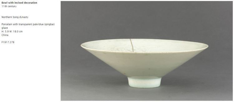 Northern Song Qing-bai Incised Bowl