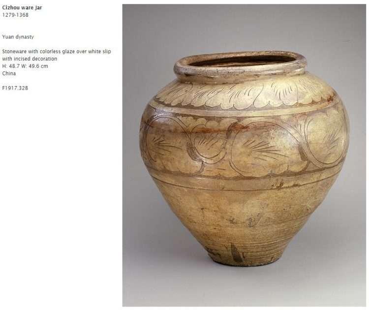 Yuan Cizhou Ware Glazed jar