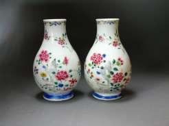 Chinese Famille Rose Yongzheng vases