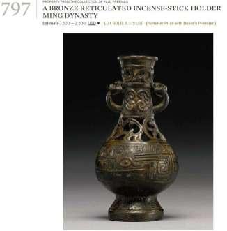 ming incense holder