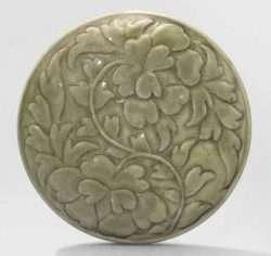 yue molded celadon box