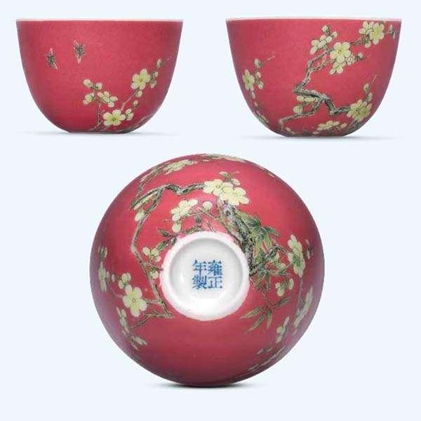Ruby Ground – A Rare Yongzheng Falangcai Cup