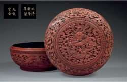Carved lacquer Qianlong period box