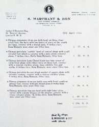 Copy of Marchant receipt