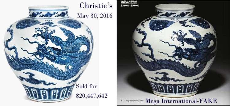 Mega International Auction selling fakes