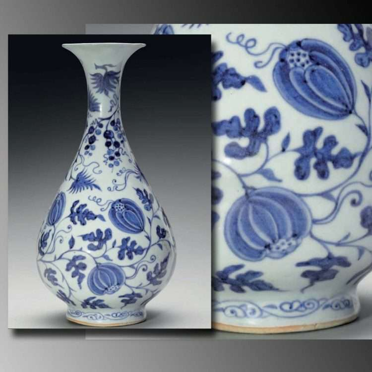 Yuan pear shaped vase