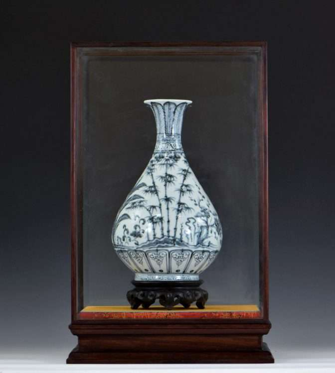 Fake Yuan blue and white vase