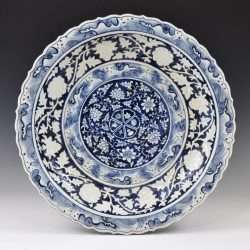 Fake Yuan blue and white plate