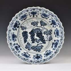Fake Ming blue and white charger