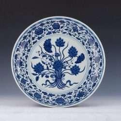 Fake Hongmu plate blue and white