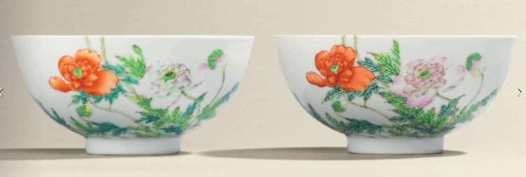Thornton Yongzheng Poppy Bowls