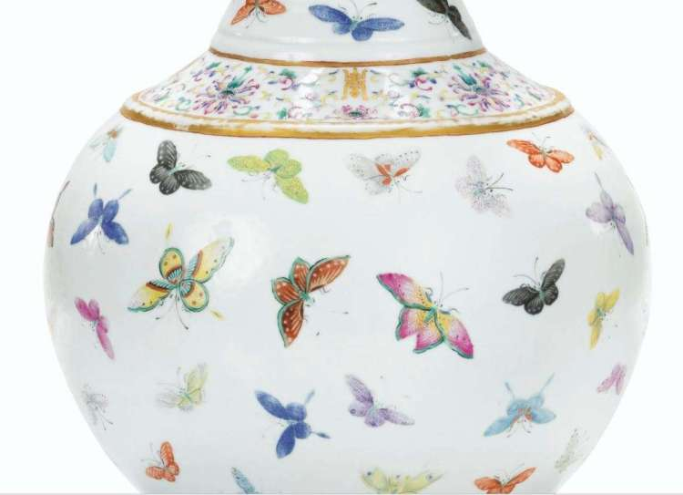 Guangxu Butterfly vase
