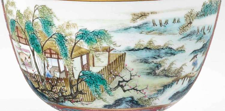 Qianlong Famille Rose bowl
