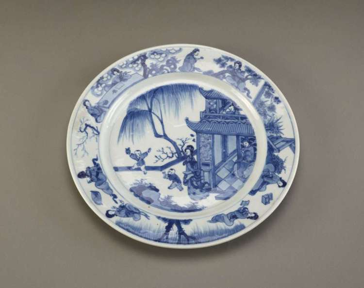 Kangxi porcelain dish