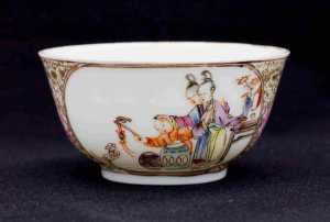 Qianlong Teeschale mit Personen3