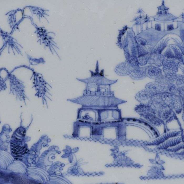 blue and white chinese export