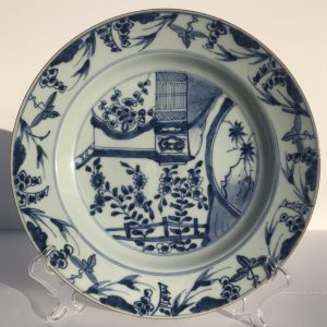 Chinese Blue and White Kangxi Large Porcelain Plate Ø27,4CM