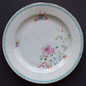 Antique Chinese famille rose plate, period of Yongzheng, 18th Century #552