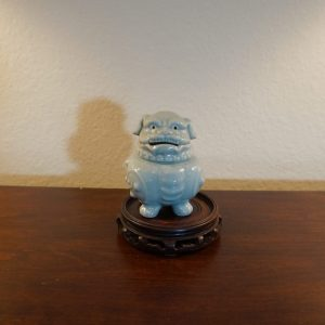Antique Chinese celadon procelain Foo dog incense burner