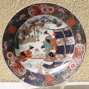 Large Porcelain Imari Charger Ø40CM – 18th – Edo period (1603-1868) – Japan