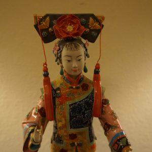 Chinese Shi-Wan Porcelain Geisha Figurine