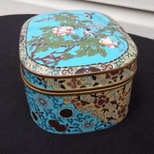 Japanese Meiji Period Cloisonee Box finely enameled.