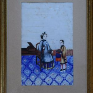 A set of 3 Antique Chinese Pith Paintings 19th century