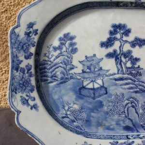 Chinese Lobbed Porcelain Export Plate 18th C