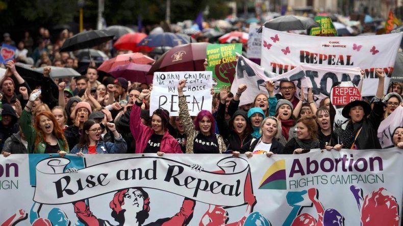 تظاهرات زنان در دوبلین