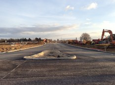 Looking south down the new bypass towards the Bromham Road/Deep Spinney roundabout