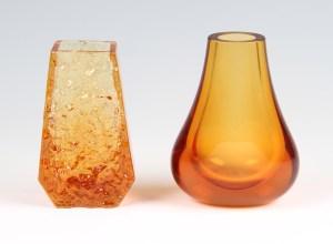 orange vases