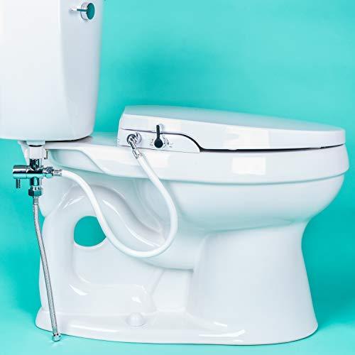 Fine Geniebidet Seat Self Cleaning Dual Nozzles Rear Machost Co Dining Chair Design Ideas Machostcouk