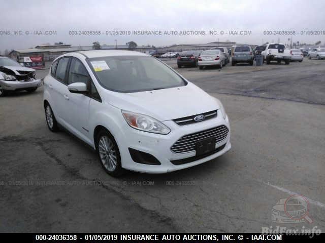 Ford C Max 2014 White 2 0l Vin 1fadp5au5el511758 Free Car History
