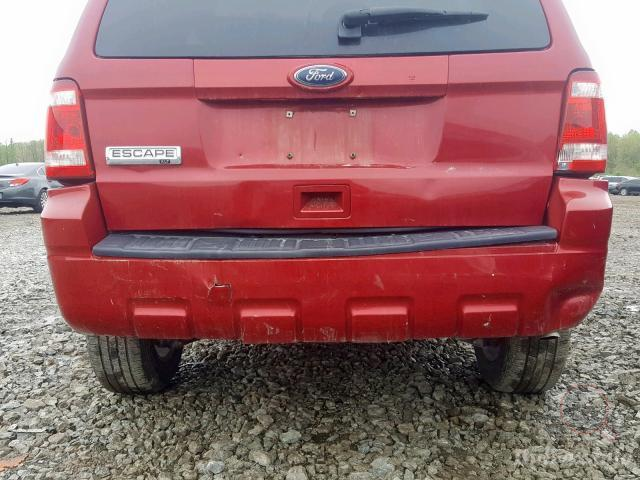 ford escape xlt 2010 red 2 5l 4 vin