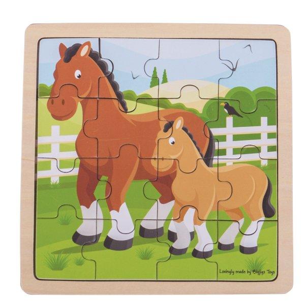 Puzzle 16 pièces cheval
