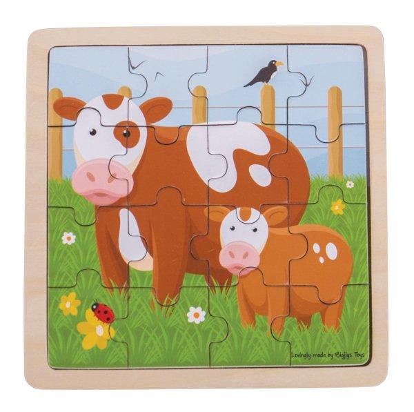 Puzzle 16 pièces vache