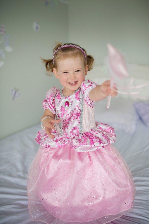 robe princesse royale rose