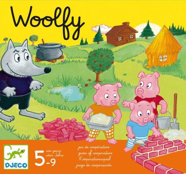 Woolfy jeu de coopération 3 petits cochons