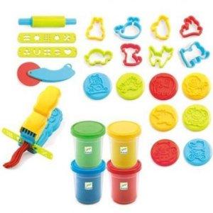 Pâte à modeler : 4 pots et 21 outils
