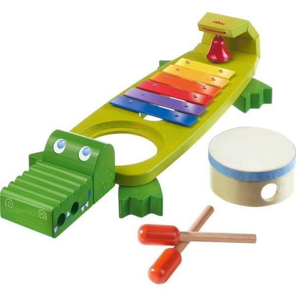 Crocodile musical xylophone tambour